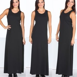 Basic Black Shell Maxi Dress
